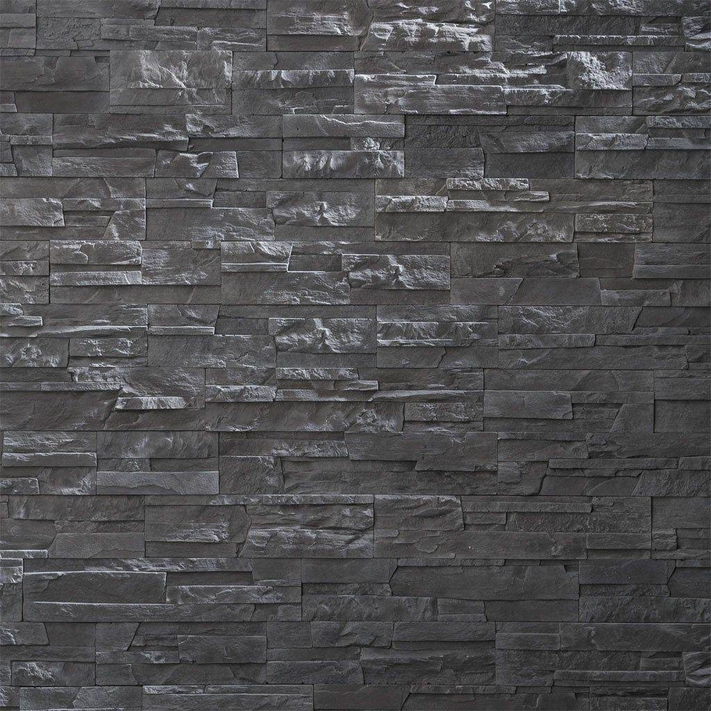 Plaquette De Parement En Beton Multiformats 17 5 24 33 39 5 X 9 X 2 Cm En Pose Sans Joint Pour Decoration Des Murs Interieurs Plaquette Base Beton Graphite
