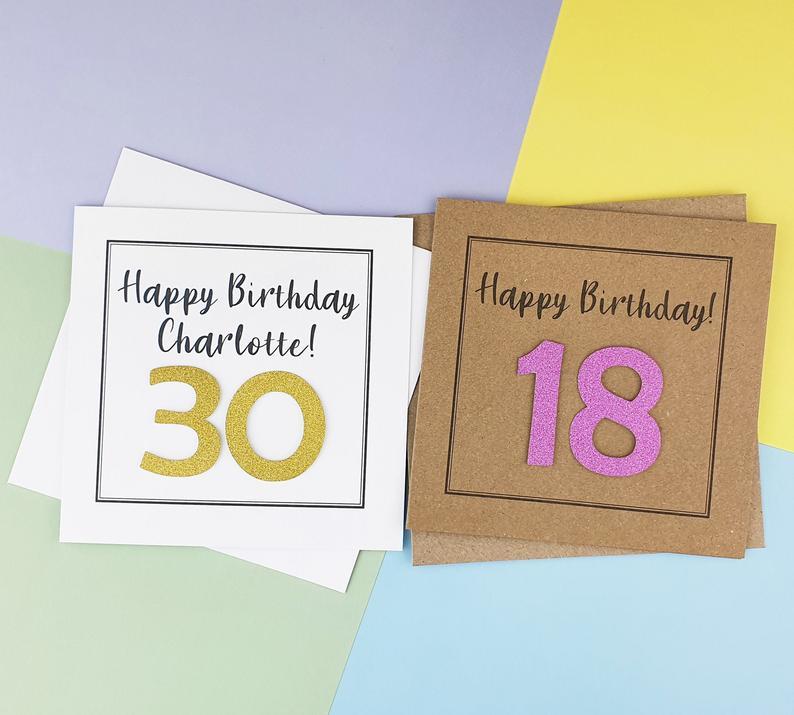Personalised 30th Birthday Card 18th Birthday Card With Name Etsy 18th Birthday Cards Birthday Card Craft 30th Birthday Cards