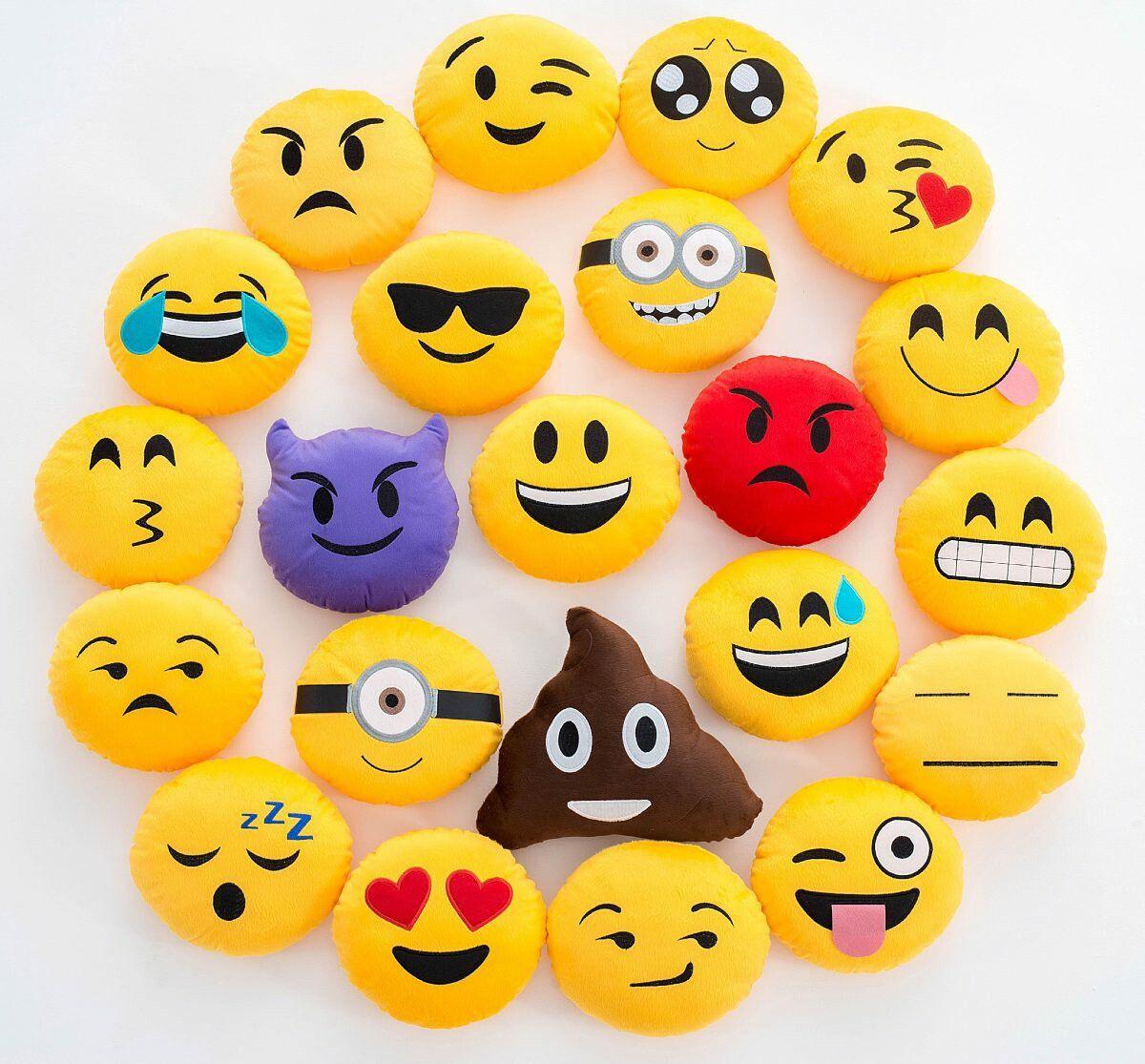 Son Emoticones Almofada Emoji Projetos Em Feltro Chaveiro De Feltro