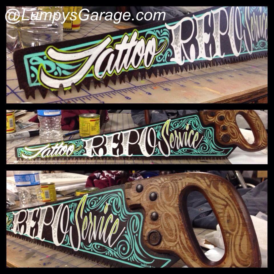 Hand Painted Garage Art Your Lettering On A Etsy Garage Art Pinstripe Art Striped Art