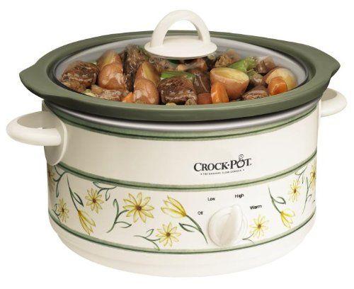 crockpot scr500gf 5quart slow cooker white