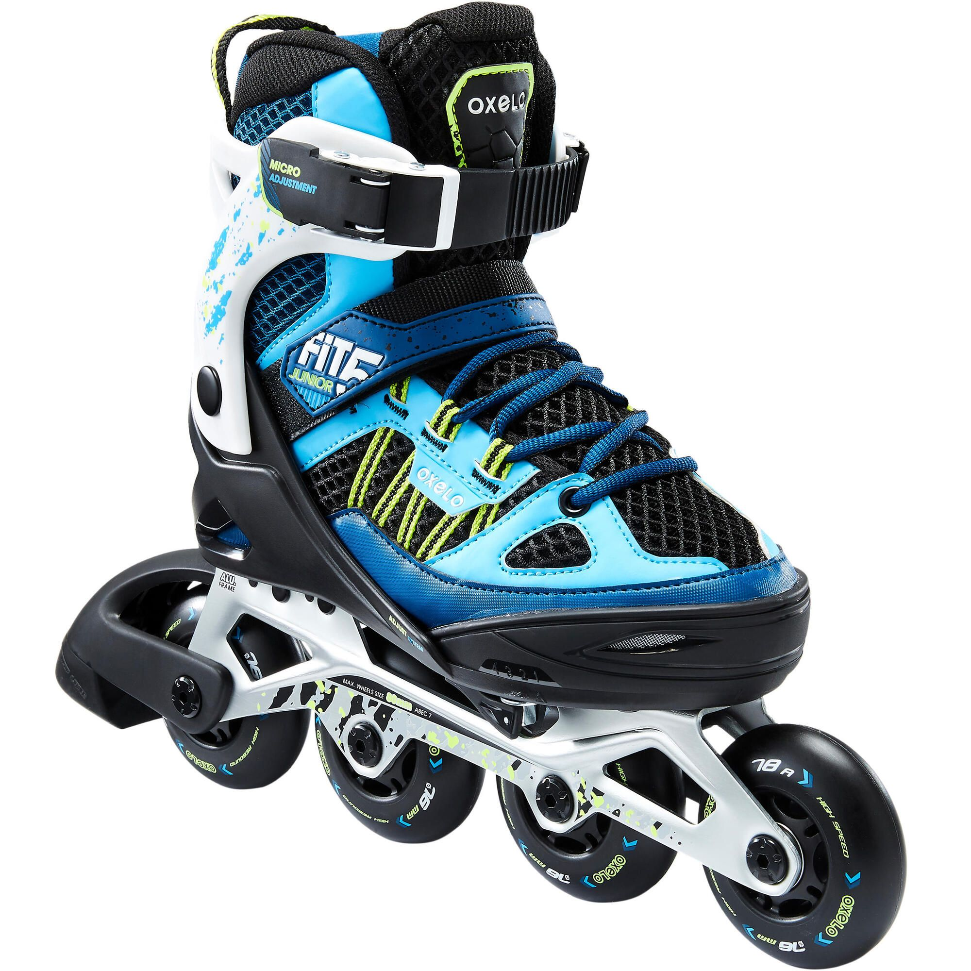 Oxelo Fit 5 Inline Fitness Skates Kids In 2021 Skate Fits Blue Fitness