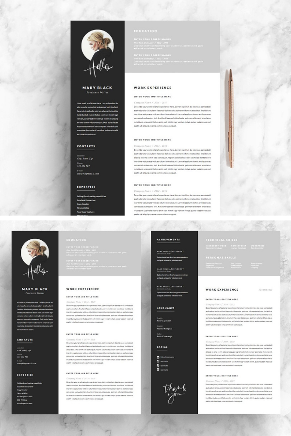 this 5 page resume will show of all your qualities a good looking