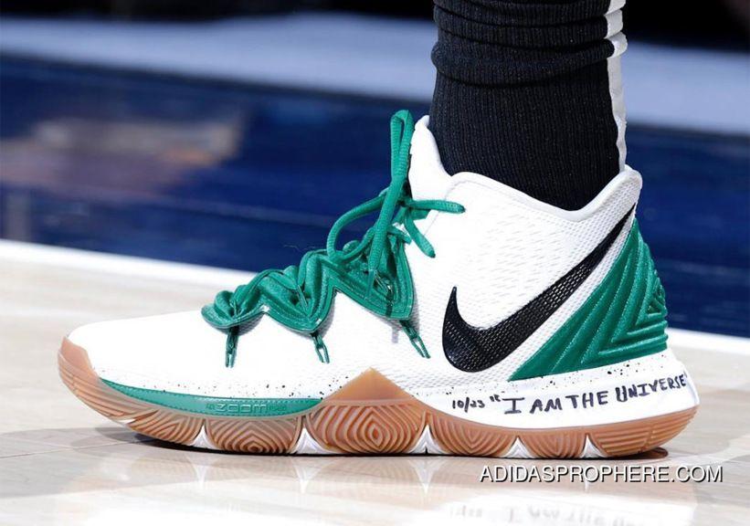 "2f74f5965368 Nike Kyrie 5 ""Celtics"" PE White Green Kyrie Irving"