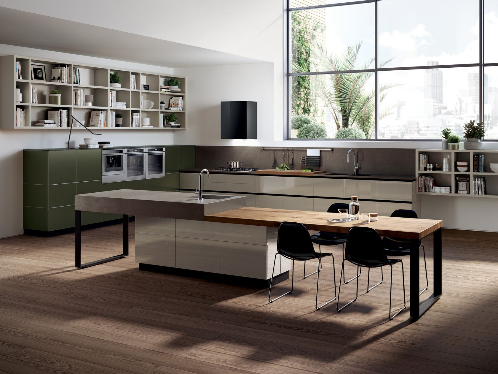 Fitted Kitchen Tetrix By Scavolini Interior Design Kitchen Minimalist Kitchen Design Kitchen Interior