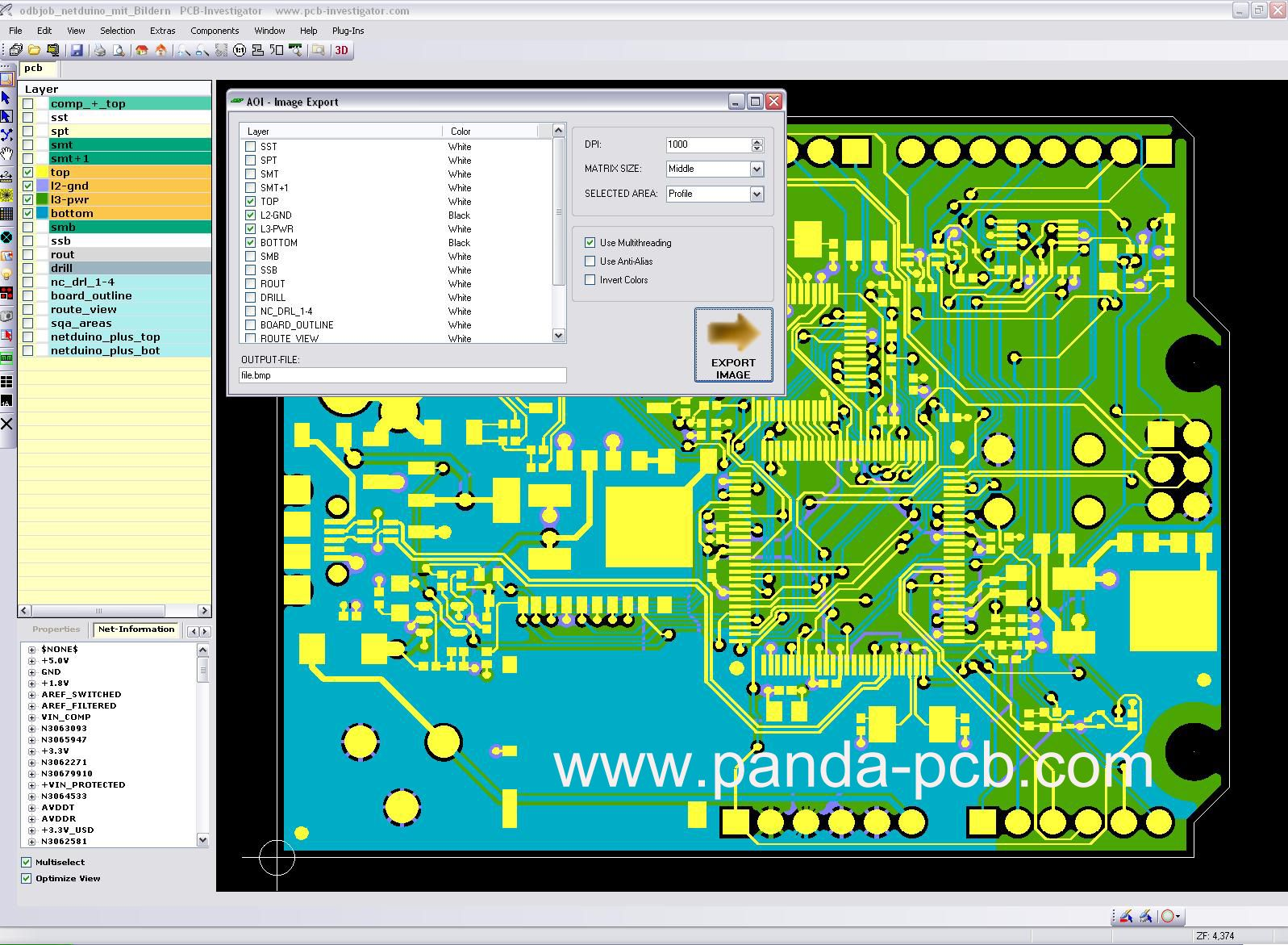 PCB manufacturing: PCB Design: including network