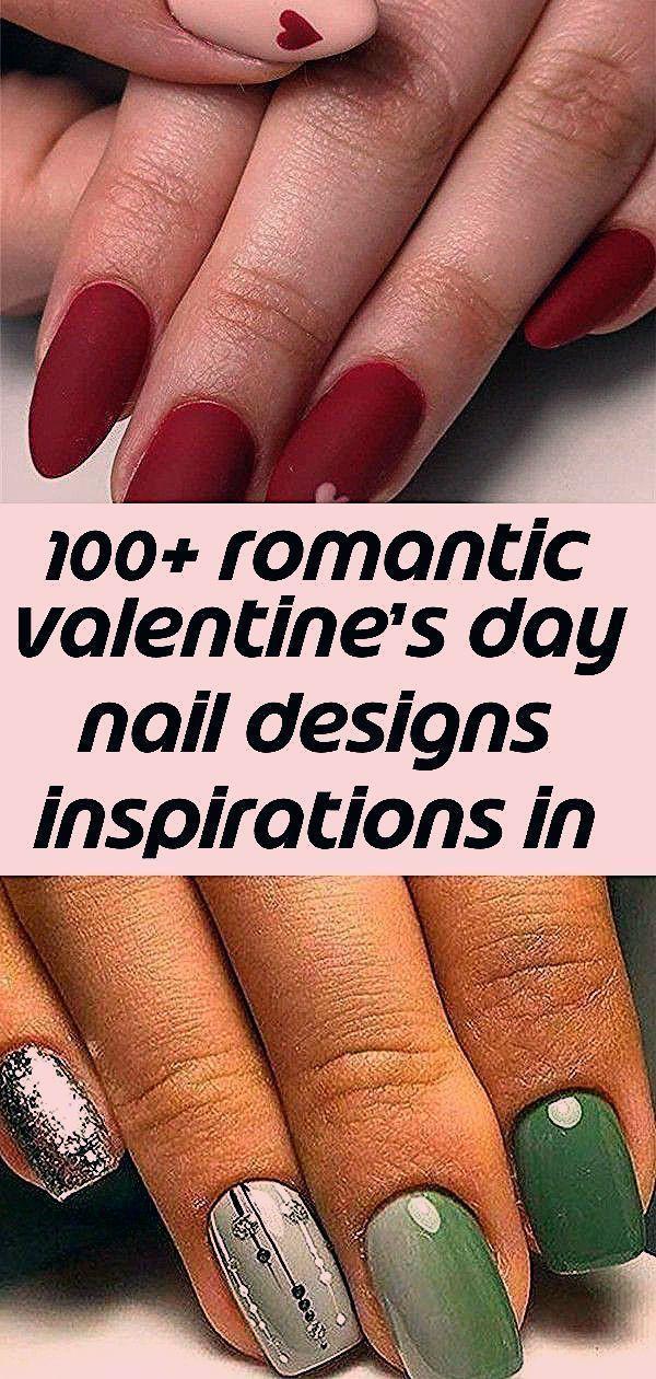 Über 100 romantische Nageldesign-Inspirationen zum Valentinstag 2019, …#nagel…