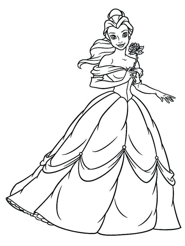 Http Timykids Com Princess Belle Coloring Page Html Disney Princess Coloring Pages Princess Coloring Pages Disney Princess Colors