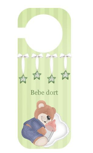 Pancarte De Porte Pancarte Chut Bébé Dort Et Bebe Dort