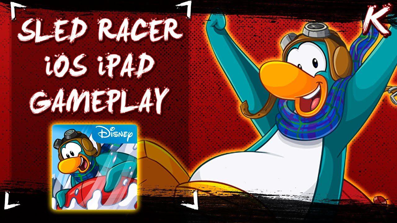 Club Penguin App Games Sled Racer iOS Gameplay! (iPad