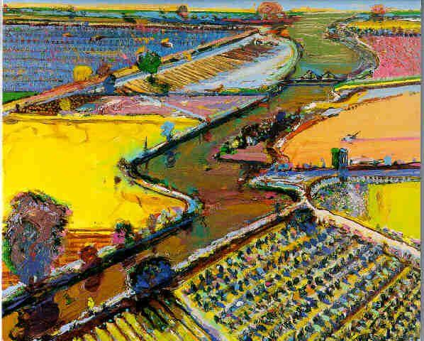 Wayne+Thiebaud+Landscapes | Thiebaud landscape - Doodle Envy: Wayne Thiebaud Creative Use Of Color Pinterest