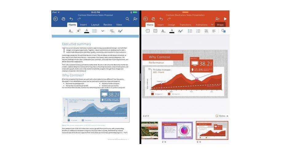 Avec Un Ipad Pro Il Faudra S Abonner A Office 365 Pour Modifier Les Documents Ipad Pro Keynote Apple Ipad