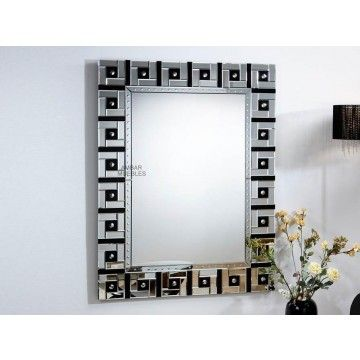 Espejo moderno de cristal george ambar muebles deco - Cristal de espejo ...