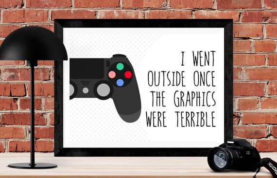The Perfect Christmas Gift For The Teenagers In Your Life This Video Game Art Poster Incorporates Their Favourite Contr Boys Game Room Gamer Room Gaming Gifts