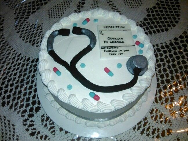8 farewell doctor cake with message on prescription My