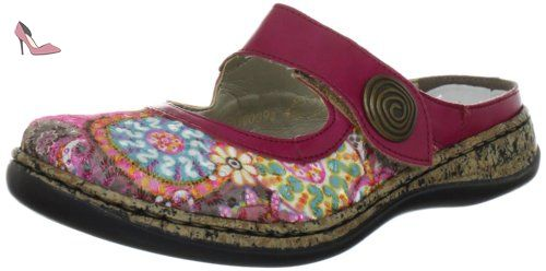 Rieker 46385/91, Sandales femme - Rose (Multicolore), 37 EU (4 UK) (6 US) - Chaussures rieker (*Partner-Link)