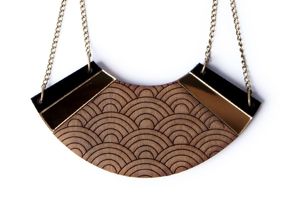 Japanese Etched Necklace