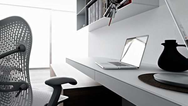 wall mounted home office. Simple Home Office Design Ideas: Wall Mounted Laptop Desk By Valcucine
