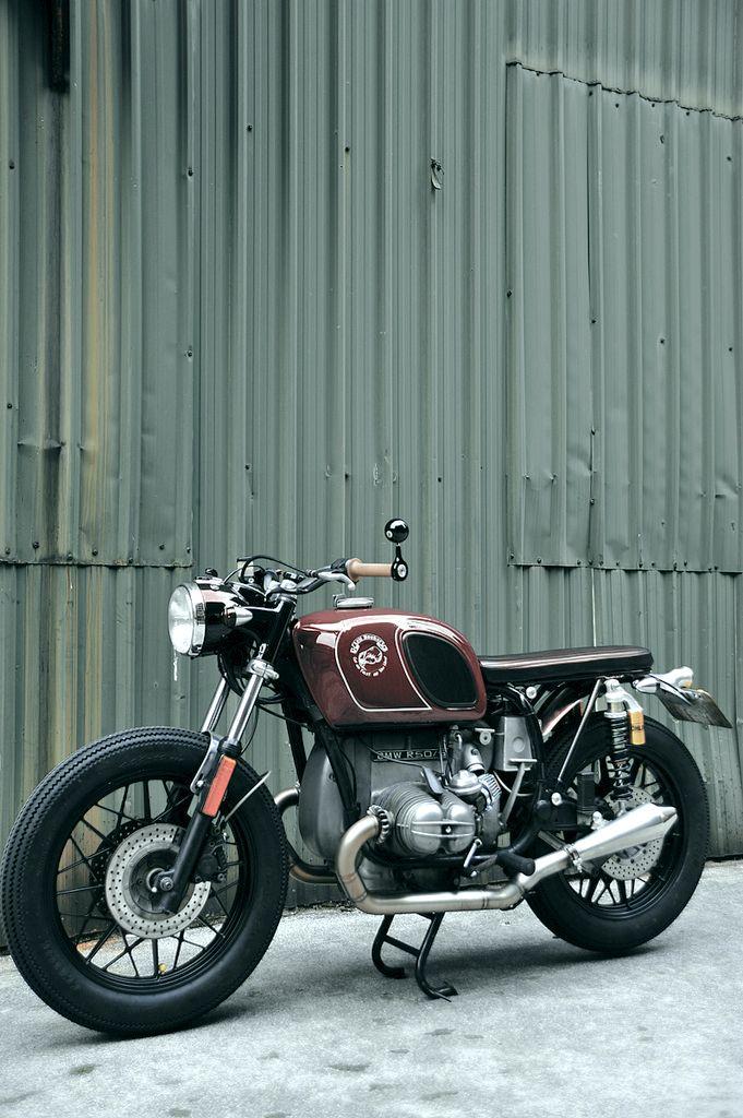 Inazuma Cafe Racer R50 Red Or Blue Bike Bmw Cafe Racer Brat