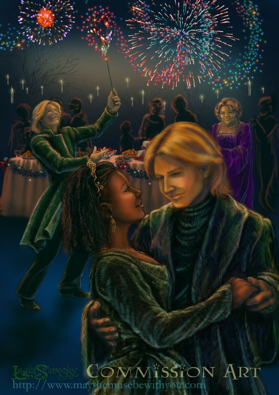 Fred And Angelina S Wedding George Weasley Fan Art Harry Potter Fan Art Fred And George Weasley