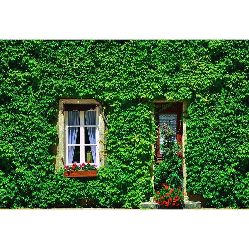 Window Door Green Plants Decoration Backdrop for Photo Studio  G-669