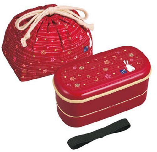 Japanese Traditional Rabbit Moon Bento Box Set - 620ml 2 Tier Bento Box, Chopsticks, Bento Bag (Red) OSK http://www.amazon.com/dp/B003VM8P8I/ref=cm_sw_r_pi_dp_IQb7tb0705PVH
