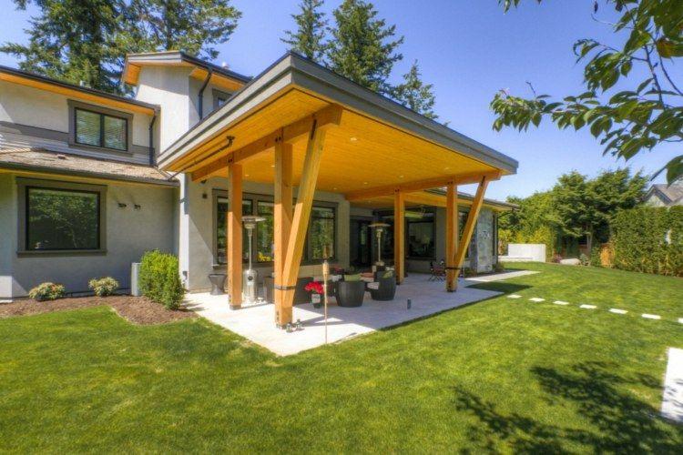 terrasse couverte 30 id es sur l 39 auvent en bois et la pergola garden pinterest pergola. Black Bedroom Furniture Sets. Home Design Ideas