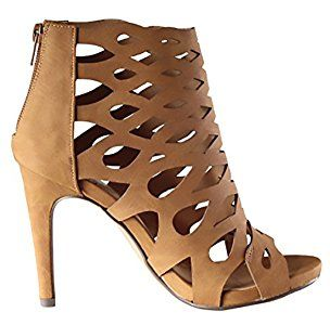 Delicious Women's Sandals Stiletto Cutouts Night Club Party Dress High Heels MVE Shoes, mve shoes oncal tan size 7.5