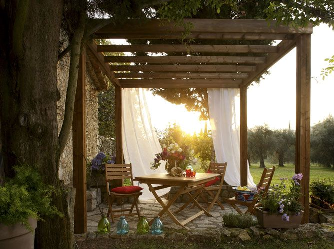 Parasols pergolas stores trouvez l ombrage id al pour for Amenager son jardin pas cher