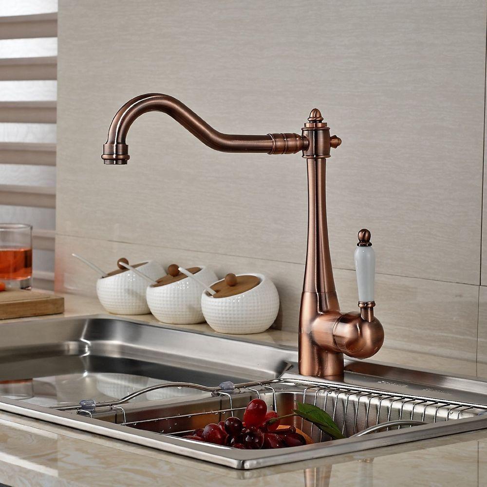 DE Einhebel Wasserhahn Retro Design Waschbecken Mischbatterie Küche ...
