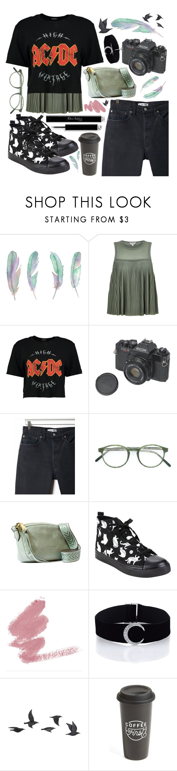 """""""Untitled #122"""" by iamasanta ❤ liked on Polyvore featuring Miss Selfridge, Boohoo, RE/DONE, RetroSuperFuture, Aimee Kestenberg, Jayson Home and The Created Co."""