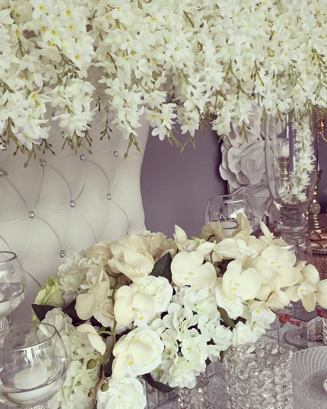 Sprucing up the showroom for spring appointments and designed this lovely all white tablescape with decorator Daniel Barker House of Design. Schedule your appointment for your upcoming wedding or event to see the full showroom! #sneakpeak #whitewedding #weddingflowers #headtable #floraldesign #silver #luxury #orchids #floralcanopy #torontowedding #torontoflorist #weddingdesign #weddingideas #weddinginspiration #collaboration #ashtoncreative #Alamango #Bridal #Textiles #Wedding…