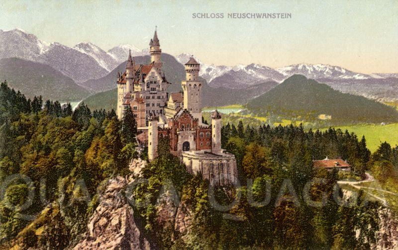 Schloss Neuschwanstein Schloss Neuschwanstein Zeichnungen Illustration