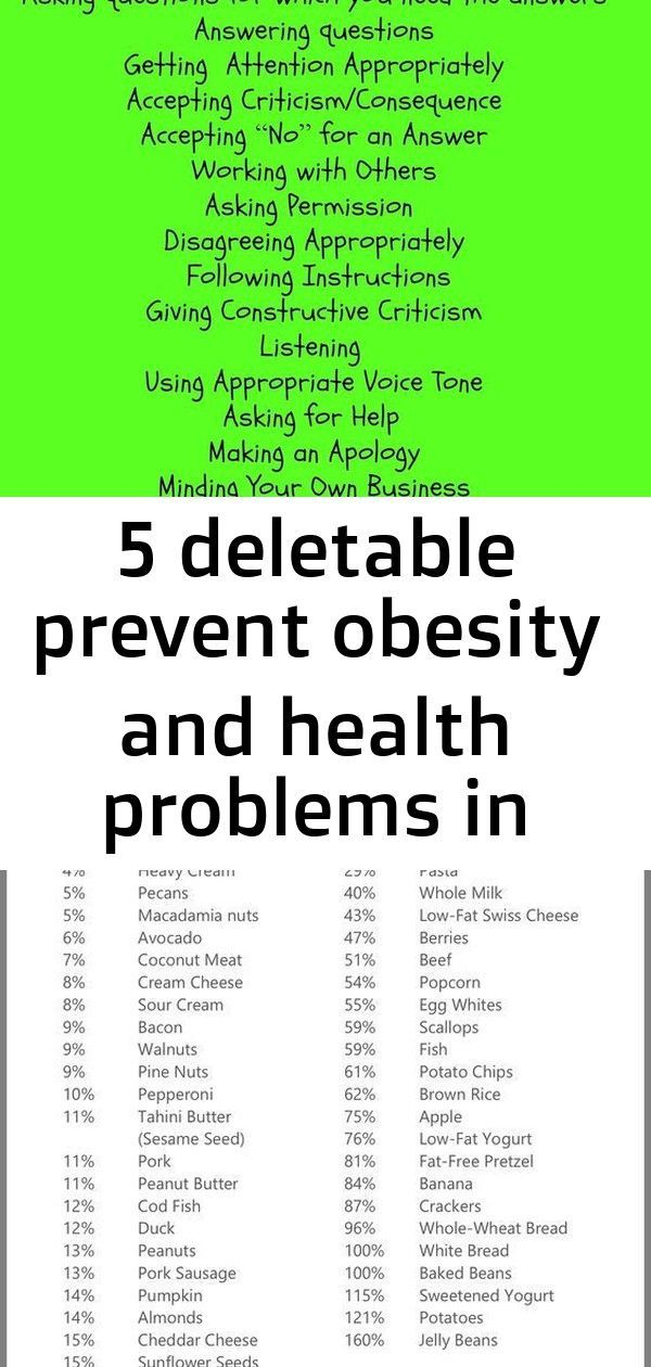 #children #deletable #Health #ideas #obesity #prevent #problems 5 Deletable Prevent Obesity and Heal...