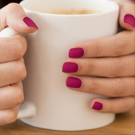 Hot pink leather minx nail art | Zazzle.com