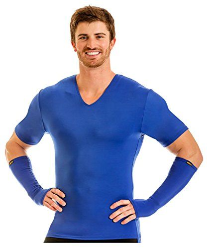 Insta Slim Pro Active Wear Muscle Tank Compression Slimming Under Shirt Royal