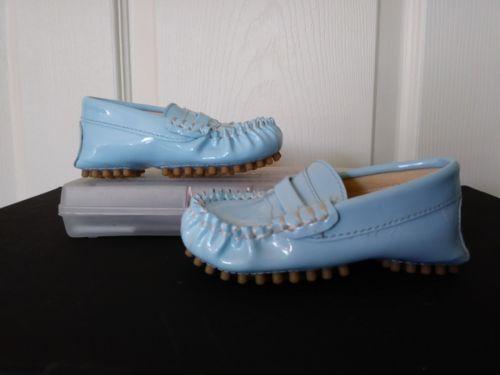 fedc935589c5 TRUMPETTE Baby Boy Infant Light Blue Moccasins Shoes Size 4 ...