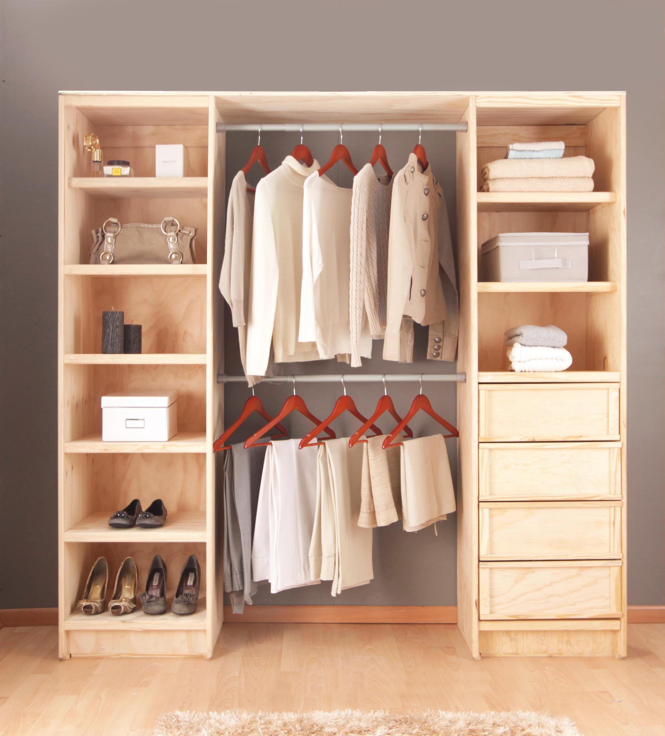 Colores neutros en tu cl set consejos para organizar for Closet de madera para dormitorios
