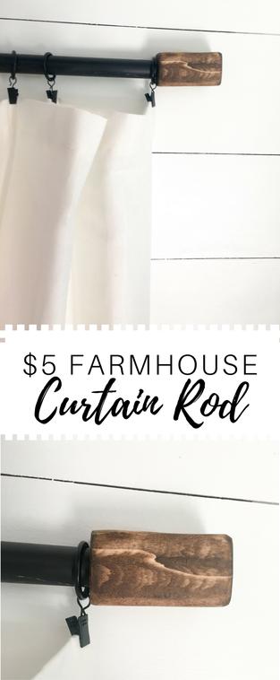 5 Farmhouse Curtain Rod Cloverlaneblog Com Farmhouse Curtain