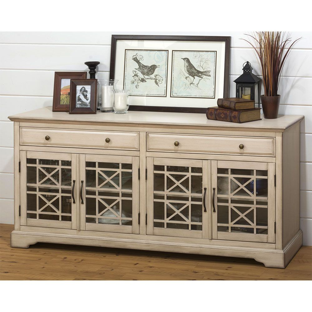 """New Furniture For Cheap: Craftsman Antique 70"""" TV Stand Media Unit W/ Distressed"""