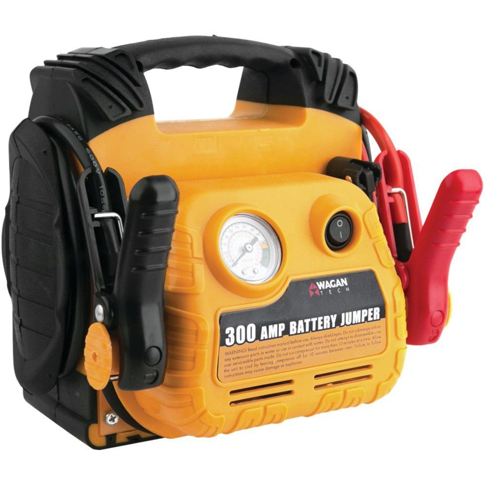 Wagan Tech 300-amp Battery Jumper With Air Compressor