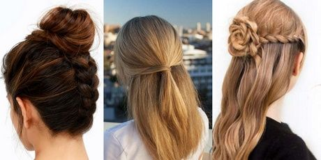 Easy to do at home hairstyles