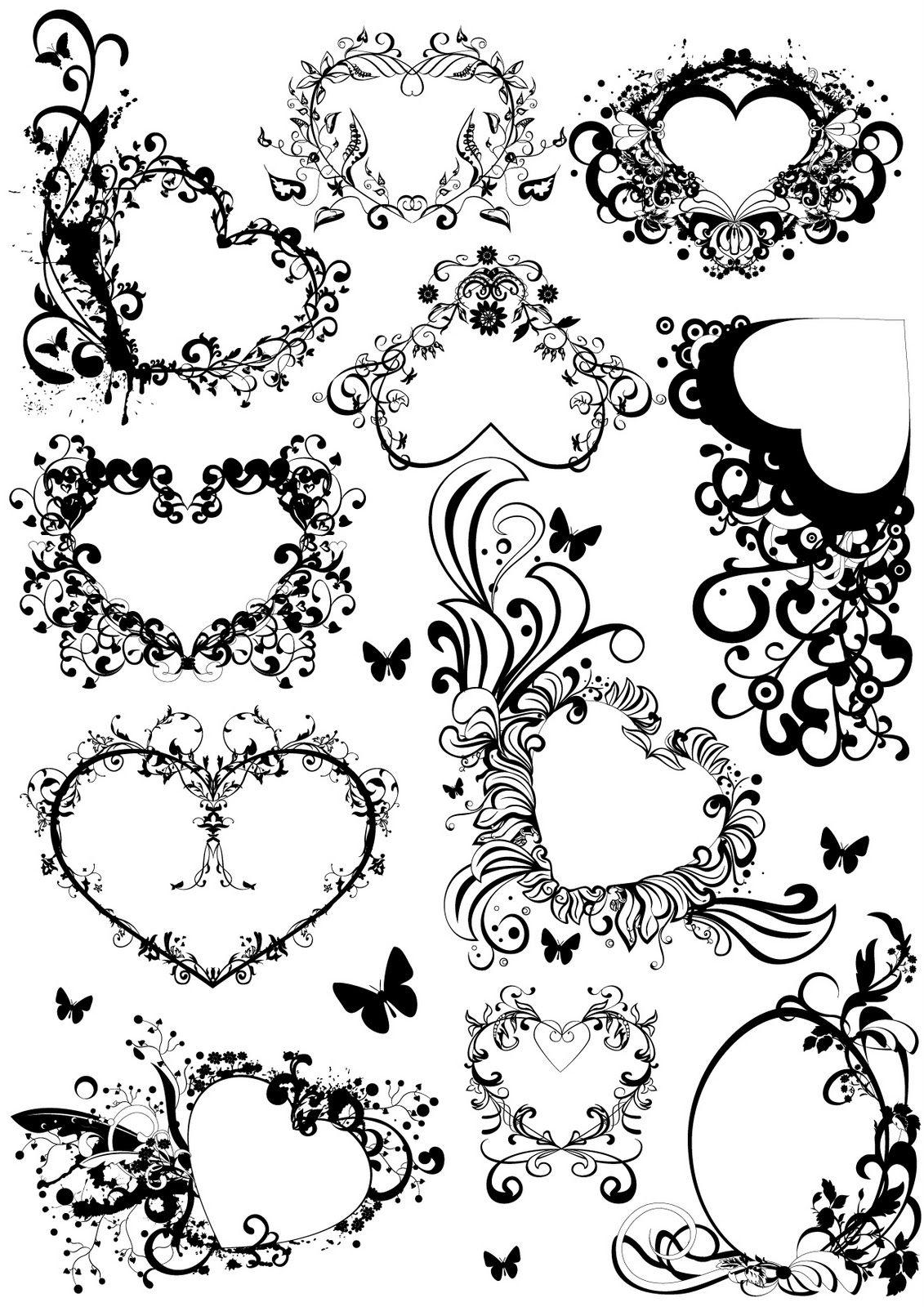 hearts doodles pinterest ich mag und vorlagen. Black Bedroom Furniture Sets. Home Design Ideas