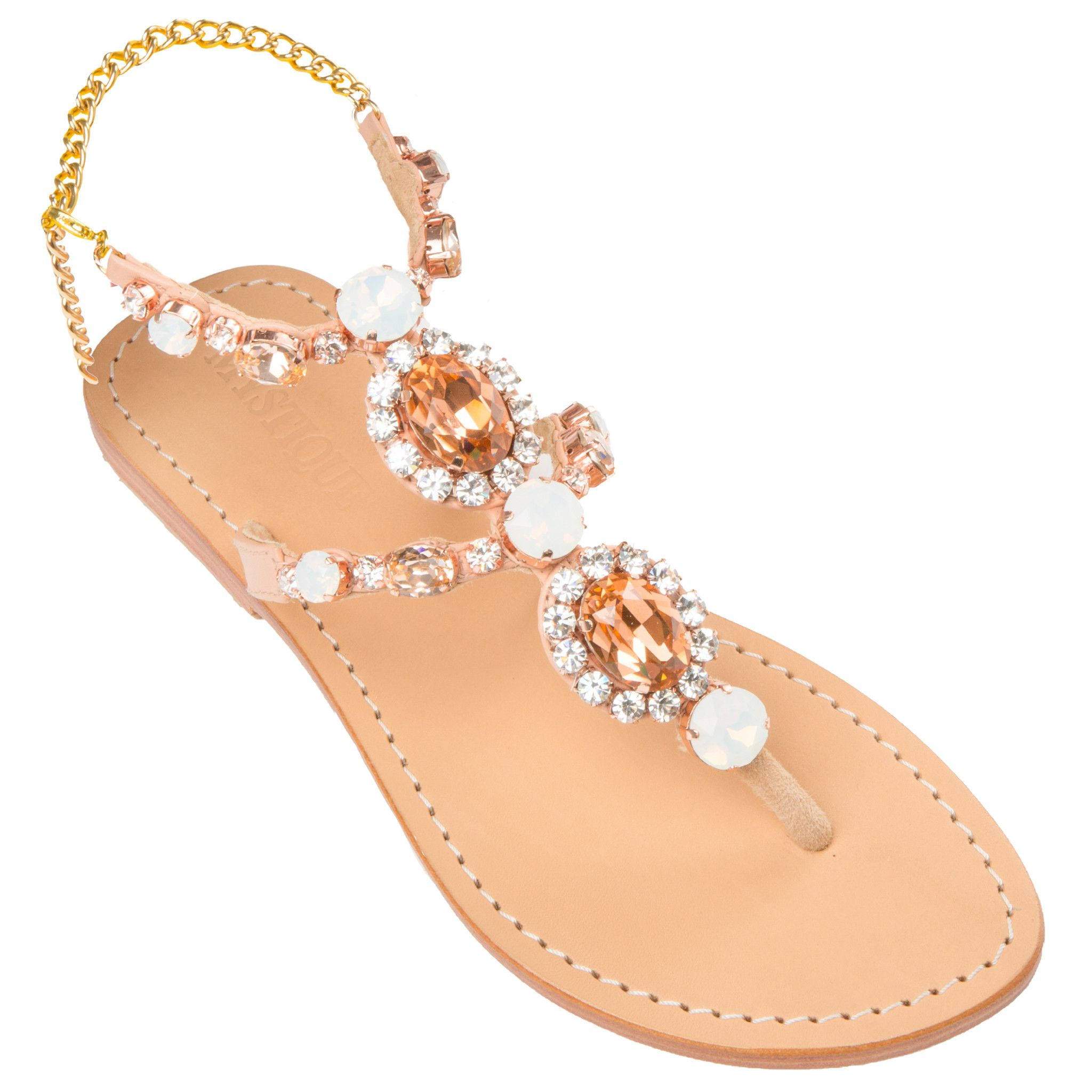 buy cheap new clearance pay with paypal Mystique Leather Embellished Sandals 2014 newest for sale sast sxdb1G3s