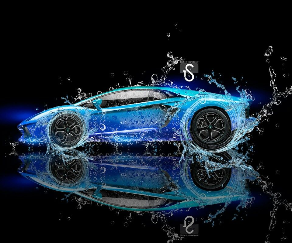 Lamborghini Great Design Hd Blue. Water. Lambo. Car-love