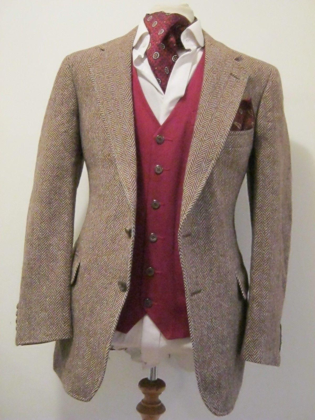 Ralph Lauren Mens Vtg Brown Herringbone British Tweed Sports Jacket Blazer 42 034 Ebay Blazer Sports Jacket Ralph Lauren Men