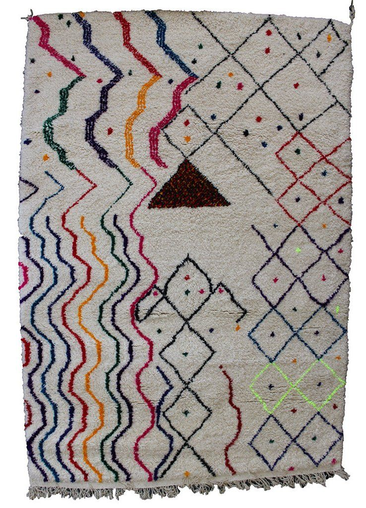 Atlas Berber Rug - 280cm x 190cm from The Handmade Rug Company-Moroccan Atlas Berber Rugs - Handmade by Berber the tribes in the mountains of Morocco. Imported direct from the Beni Ourain & Moyen tribes in Morocco. www.thehandmaderugcompany.com