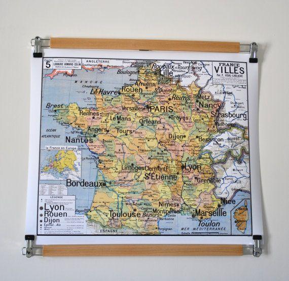 Reproduction D Ancienne Carte D Ecole N 5 France Villes Par Vidal Lablache France Photos Old Map France City