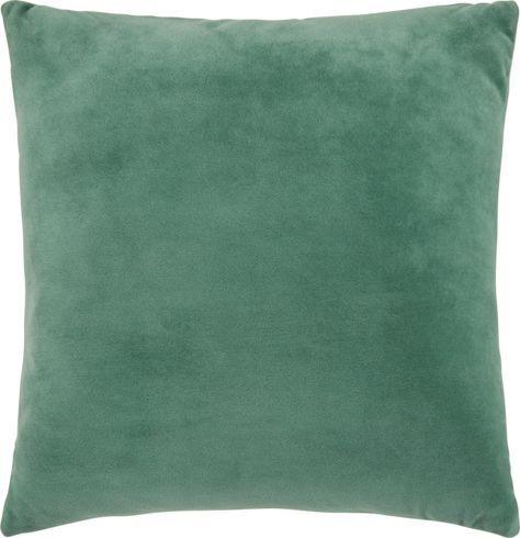 Zierkissen aus 100% Polyester in der Farbe Grün. B/L: ca. 45/45cm.