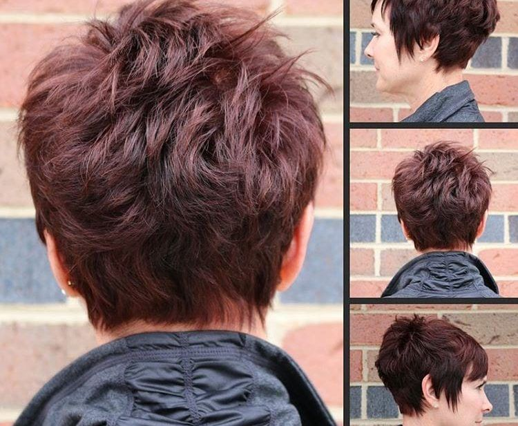 Classic Stacked Choppy Pixie - The Latest Hairstyl